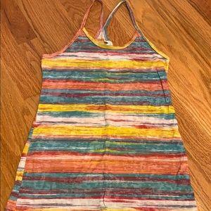Delia's tank multicolor stripe